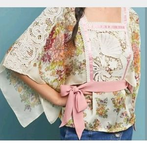 NWT Anthropologie TINY Begonia Floral Printed Top